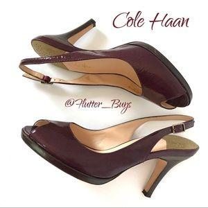 "Cole Haan • ""Carma"" Nike Air Open Toe Slingbacks"